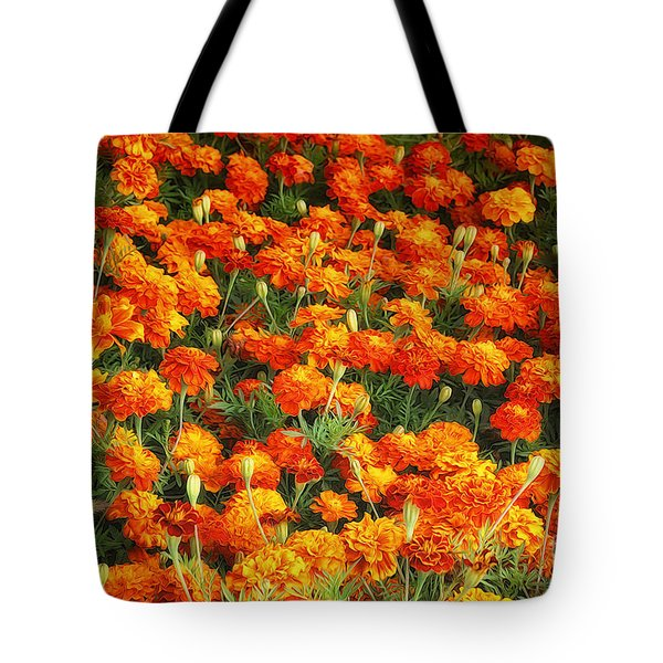 Marigold Tote Bag by Jutta Maria Pusl