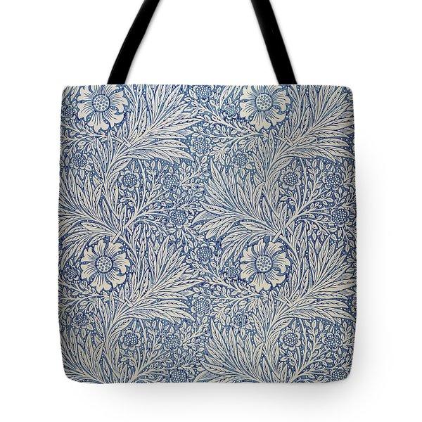 Marigold Wallpaper Design Tote Bag by William Morris