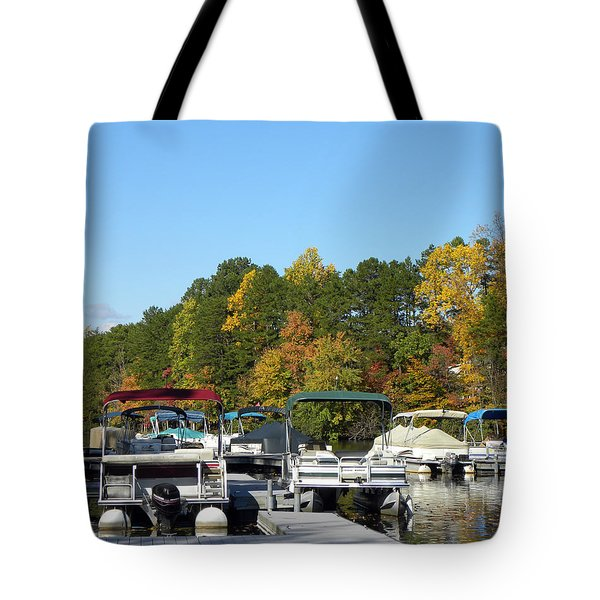 Marina In Fall Tote Bag by Sandi OReilly