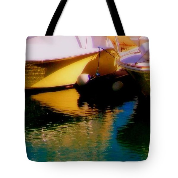 Marina Rainbow Tote Bag by Karen Wiles