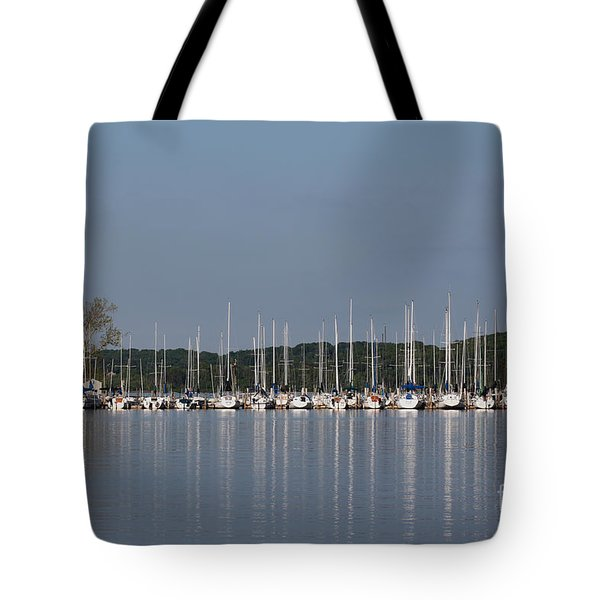 Tote Bag featuring the photograph Marina by Todd Blanchard