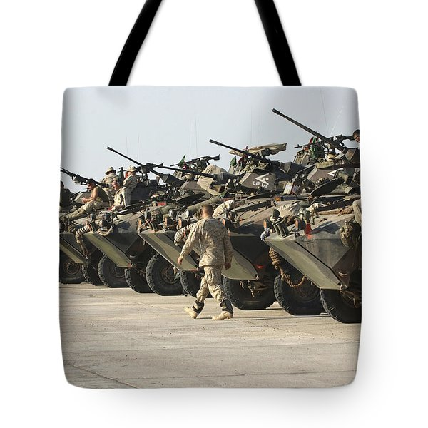 Marines Perform Maintenance On Light Tote Bag by Stocktrek Images