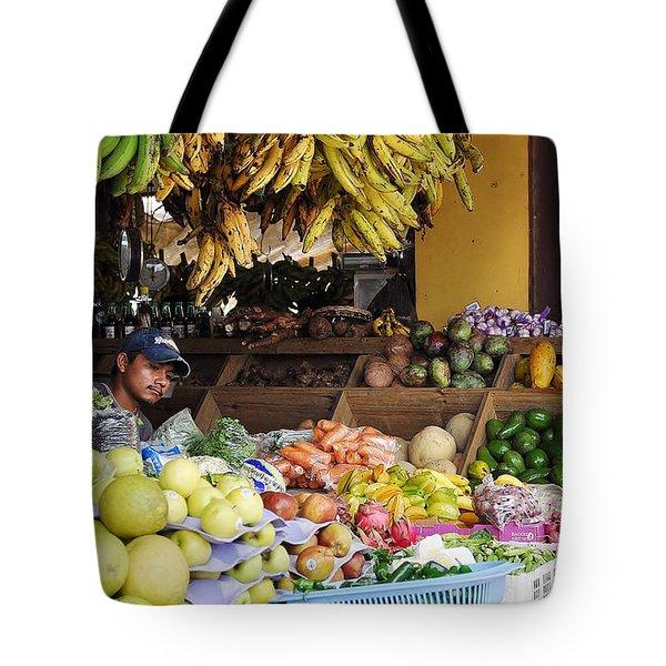Market Vendor Tote Bag by Li Newton