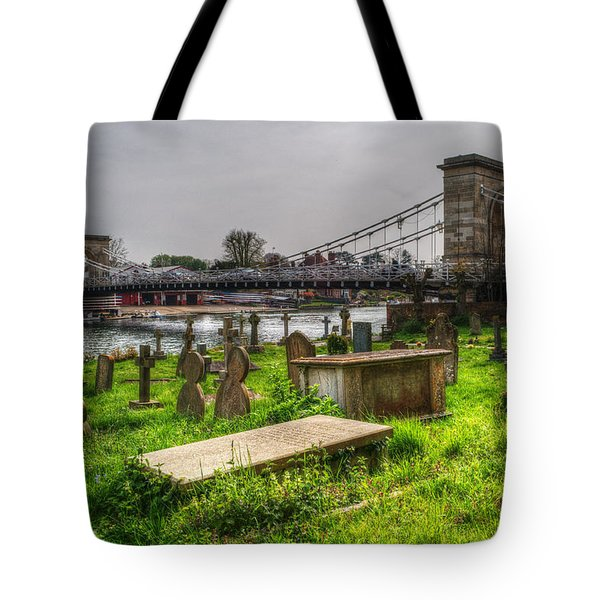 Marlow Bridge From All Saints Graveyard Tote Bag by Chris Day