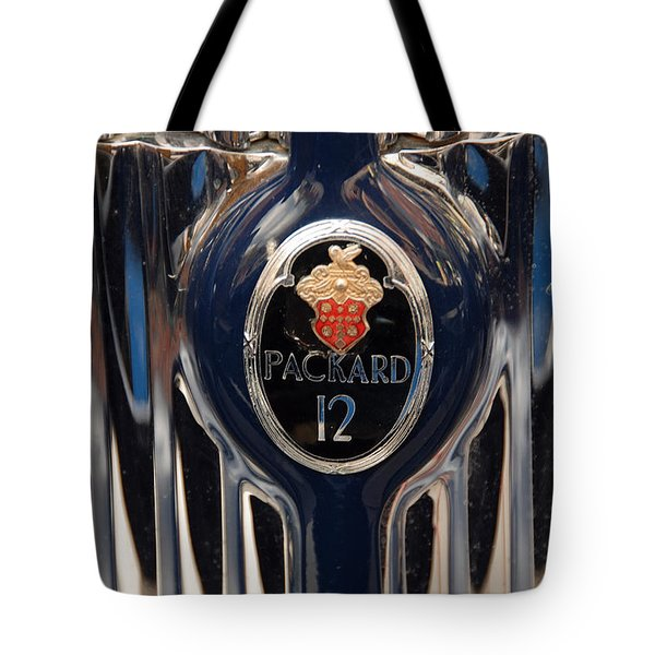 Tote Bag featuring the photograph Marque Packard 12 by John Schneider