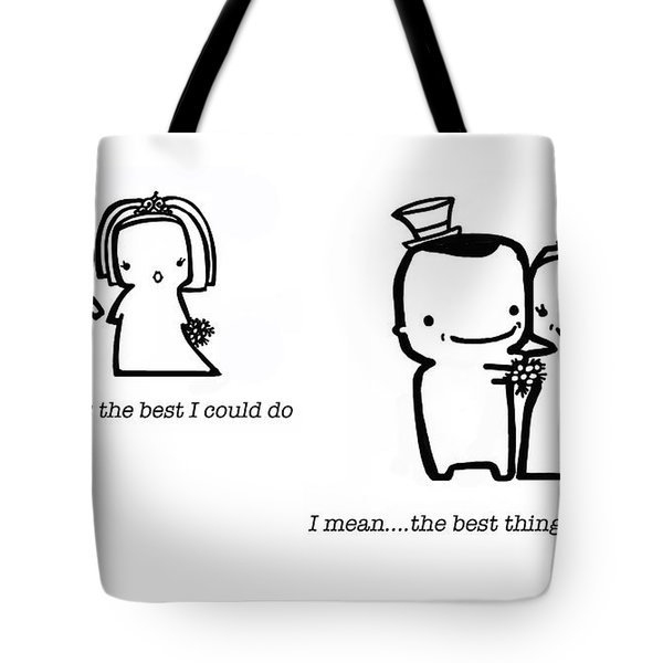Tote Bag featuring the drawing Marrying You by Leanne Wilkes