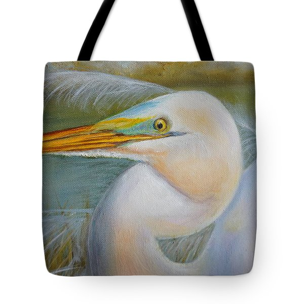 Tote Bag featuring the painting Marsh Master by Marlyn Boyd