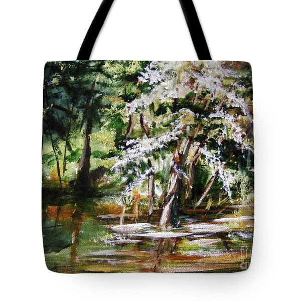 Tote Bag featuring the painting Marsh Tide by Karen  Ferrand Carroll