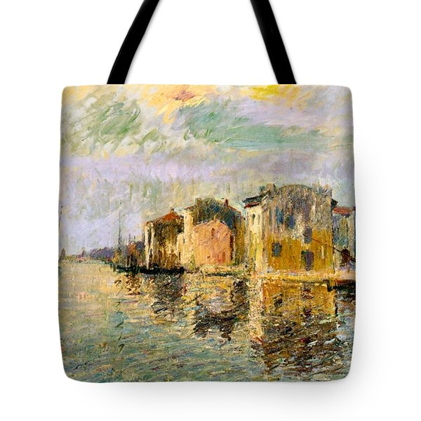 Martigues In The South Of France Tote Bag by Gustave Loiseau