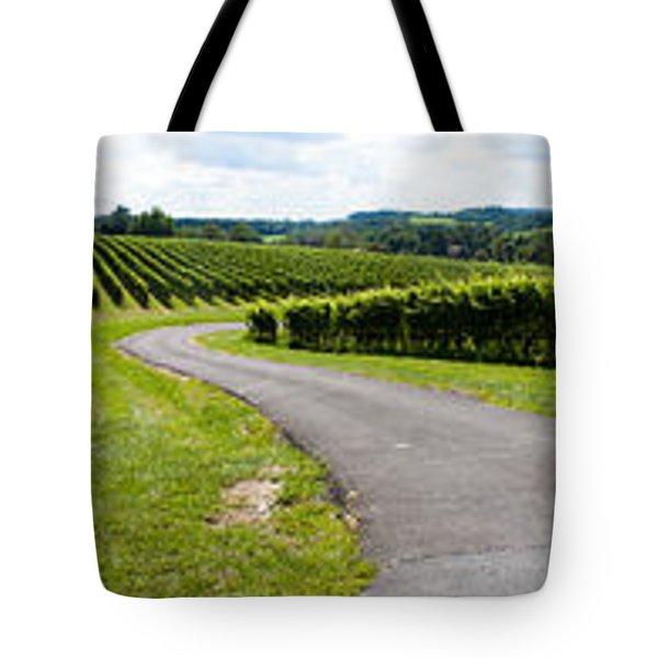 Maryland Vineyard Panorama Tote Bag by Thomas Marchessault