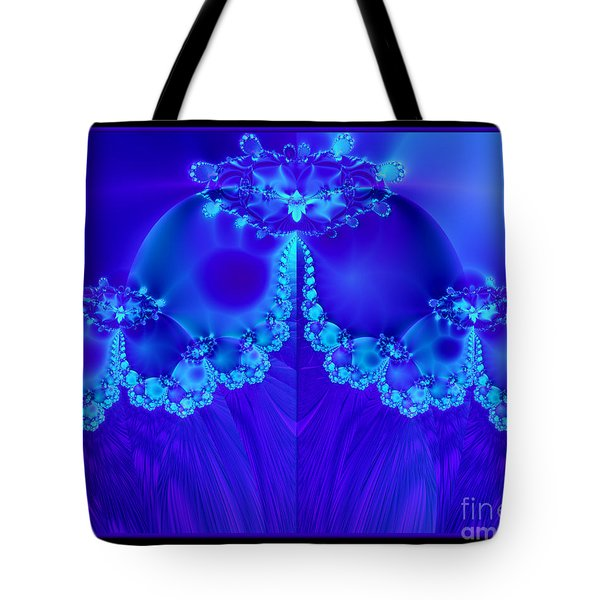 Marys Veil Fractal 60 Tote Bag by Rose Santuci-Sofranko