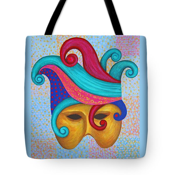 Mask With  Head Dress Tote Bag by Nareeta Martin