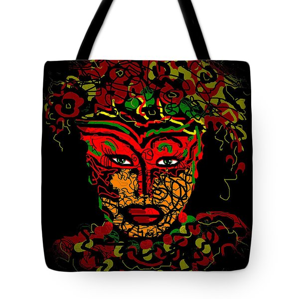 Masked Beauty Tote Bag by Natalie Holland