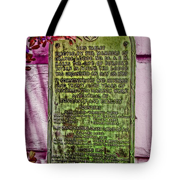 Masons Meeting Place Tote Bag