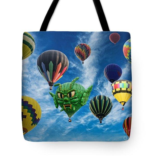 Mass Hot Air Balloon Launch Tote Bag