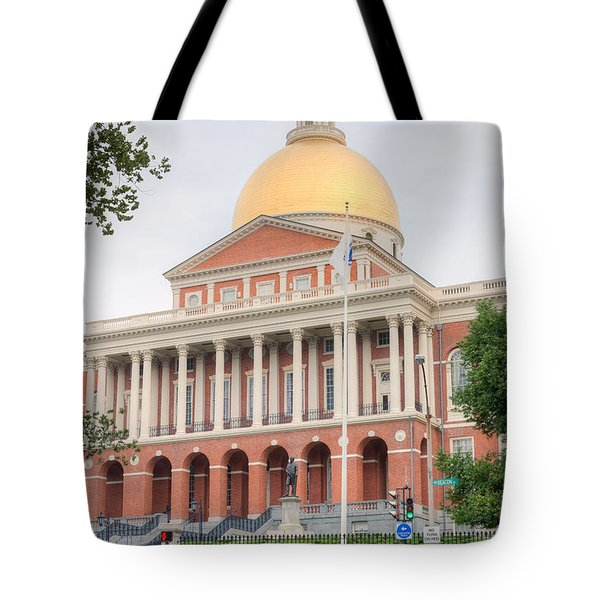 Massachusetts State House I Tote Bag by Clarence Holmes
