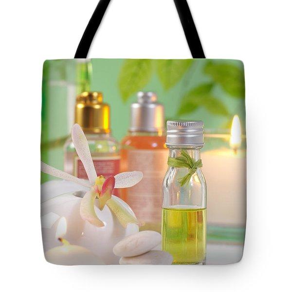 Massage Spa Concepts Tote Bag by Atiketta Sangasaeng