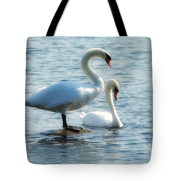 Mating Pair Tote Bag by Andrea Kollo