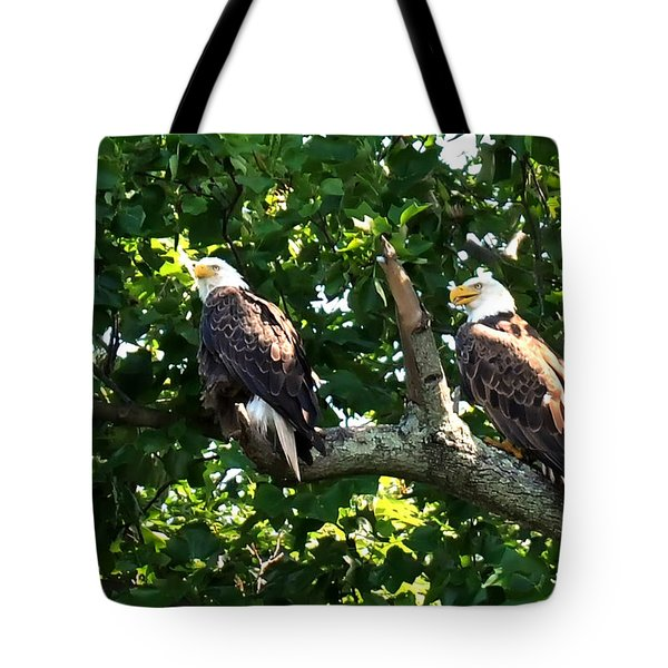Tote Bag featuring the photograph Mating Pair by Randall Branham