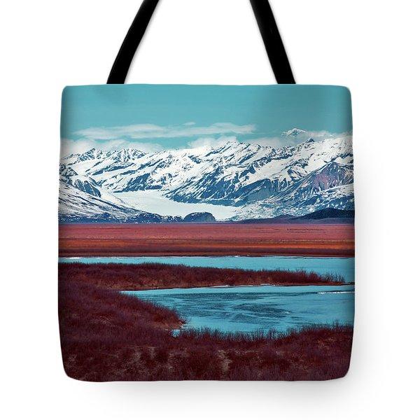 Mclaren Glacier Tote Bag by Rick Berk