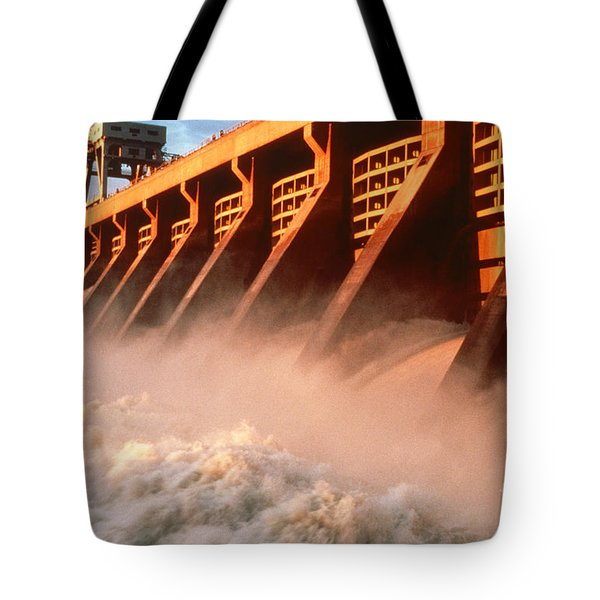 Mcnary Dam Tote Bag by DOE/Science Source