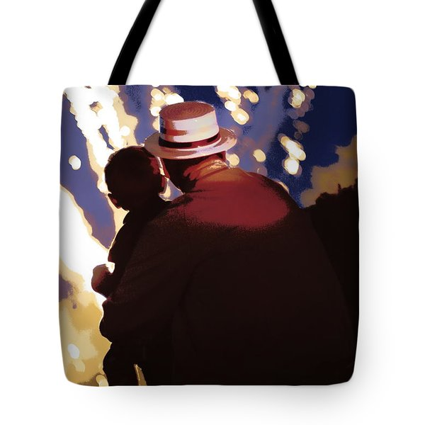 Me And Papa - 4th Of July Tote Bag