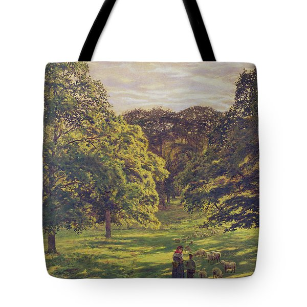 Meadow Scene  Tote Bag by John William Buxton Knight