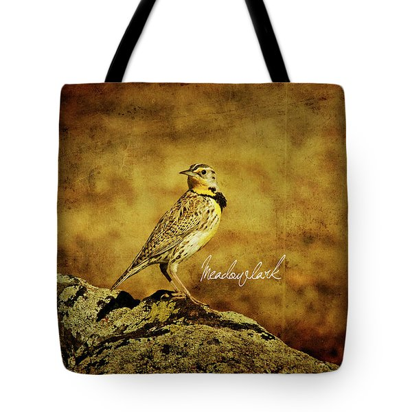 Meadowlark Tote Bag