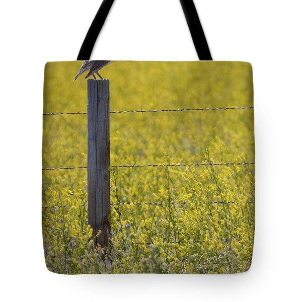Meadowlark Singing Tote Bag