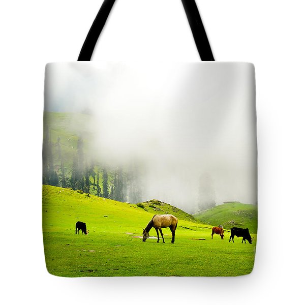 Meadows Of Heaven Tote Bag by Syed Aqueel