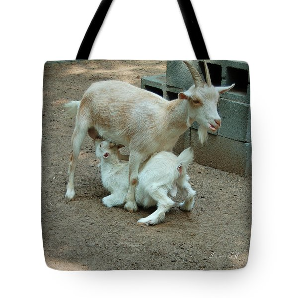 Mealtime Tote Bag by Suzanne Gaff