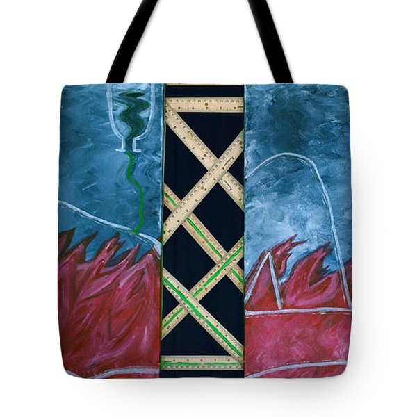 Measure Of A Man Tote Bag by Lisa Brandel
