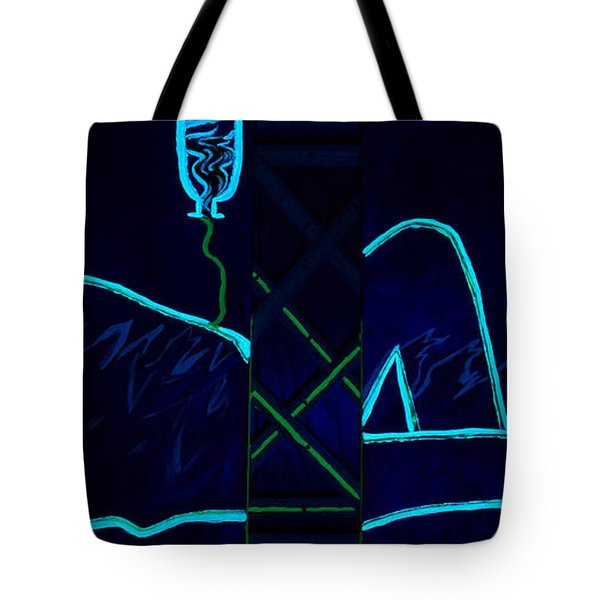 Meausre Of A Man Black Light View Tote Bag
