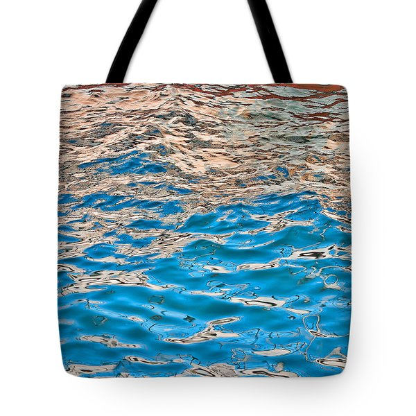 Tote Bag featuring the photograph Meboid Reflection by Britt Runyon