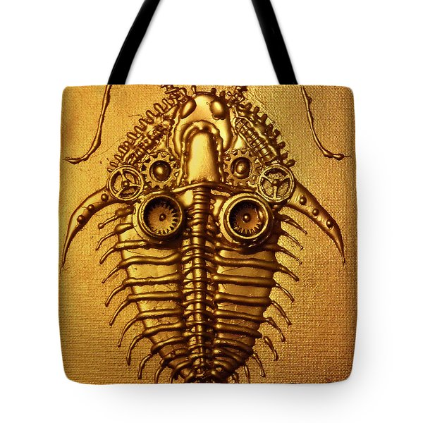 Mecha-trilobite 3 Tote Bag by Baron Dixon