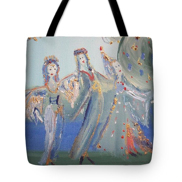 Medieval Maids Tote Bag by Judith Desrosiers