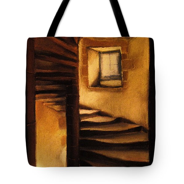 Medieval Tower Tote Bag by Mona Edulesco