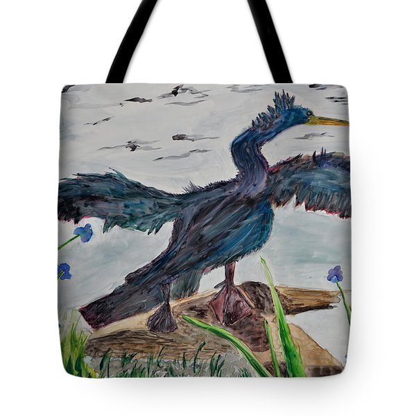 Anhinga-drying Out Tote Bag by Mickey Krause