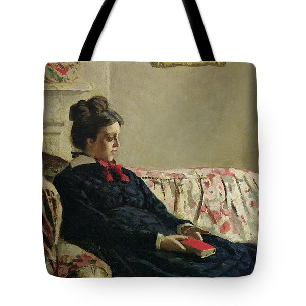 Meditation Tote Bag by Claude Monet