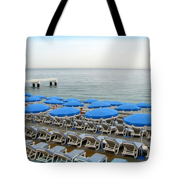 Mediterranean Blue Tote Bag by Carla Parris