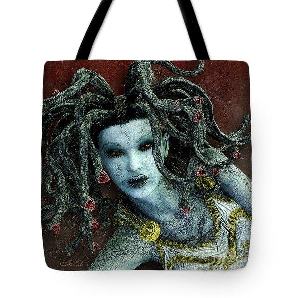 Medusa Tote Bag by Jutta Maria Pusl