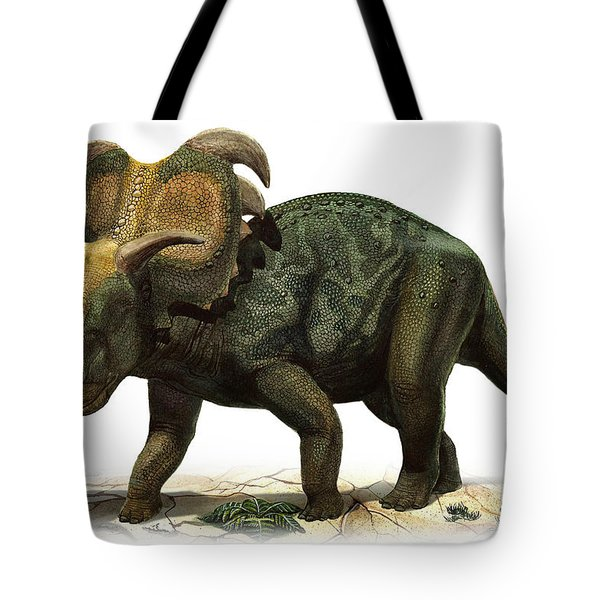 Medusaceratops Lokii, A Prehistoric Era Tote Bag by Sergey Krasovskiy