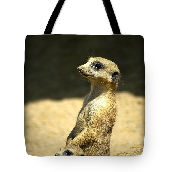 Meerkat Mother And Baby Tote Bag