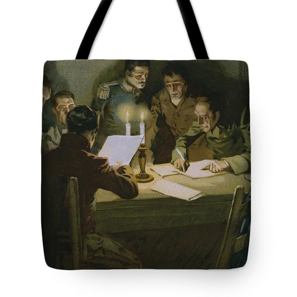 Meeting Of The First Partisans Resisting The Occupiers Tote Bag by Italian School