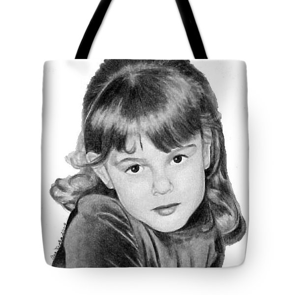 Tote Bag featuring the drawing Meghan Smyth by Ana Tirolese