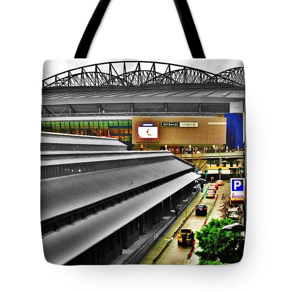 Tote Bag featuring the photograph Melbourne Docklands by Blair Stuart