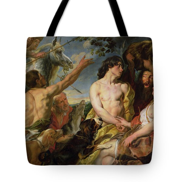 Meleager And Atalanta Tote Bag by Jacob Jordaens