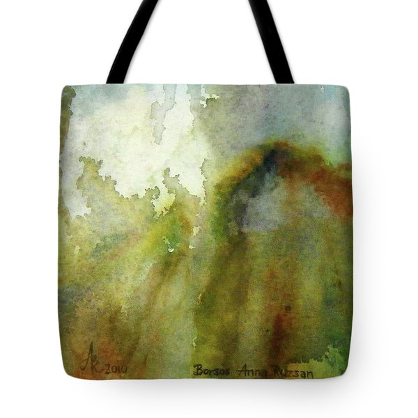 Tote Bag featuring the painting Melting Mountain by Anna Ruzsan