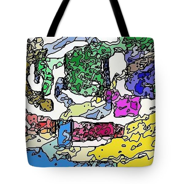 Tote Bag featuring the digital art Melting Troubles by Alec Drake