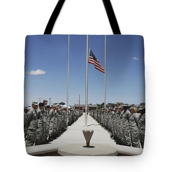 Members Of Team Holloman Stand Tote Bag by Stocktrek Images
